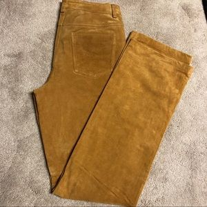 Leather Suede Pants